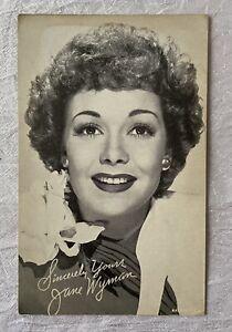 Vintage Arcade Exhibit Card - Actress Movie Star Jane Wyman