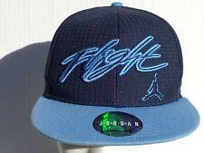 NIKE AIR JORDAN CAP HAT FLIGHT JUMPMAN navy/Carolina blue 1 SZ FITS ALL SNAPBACK