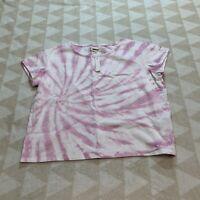 Madewell An460 Womens Tie Day Cap Sleeve Body Tee Shirt Organic Cotton Nwt XXS