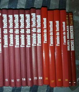 11 volumes de l'année du football + Les n°1 de Michel Drucker / TBE