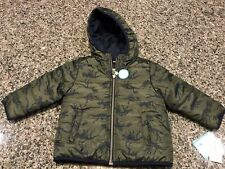 NWT CARTERS LITTLE BOY DINOSAURS REVERSIBLE WINTER PUFFER...