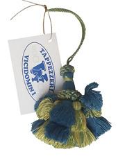 Nappine portachiavi fiocco, decorazioni mobili vintage 0120 Viola-Verde da 19 cm
