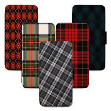 Tartan Pattern Scotland Flip Phone Case Cover Wallet - Fits Iphone 5 6 7 8 X 11