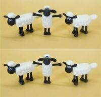 "LOT OF 6 TM AARDMAN Shaun the Sheep MINI FIGURE 2"" LOOSE"