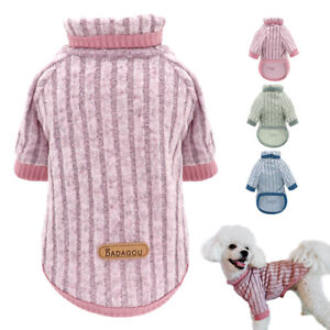 Soft Knit Dog Sweater Pet Puppy Cat Clothes Jumper Winter Apparel Pink Clothing