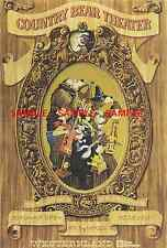 "Vinage Disney Tokyo Country Bear Theater  1991 [ 8.5"" X 11"" ] Poster"