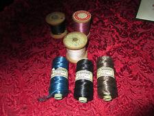 lot de bobines de fil anciennes en bois