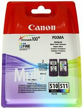 Original Canon PG510 Black & CL511 Colour Ink Cartridge For PIXMA MP250 MP270