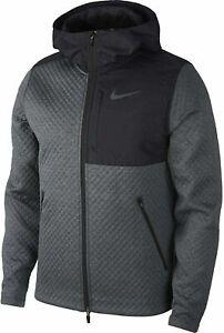 Nike Therma Sphere Max Full Zip Jacket Gray/Black BV3998-070 Mens Size Medium