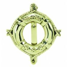 Decorative Life Ring Door hardware Beach nautical DOOR KNOCKER Polished Brass