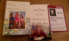 It Takes a Village SIGNED Hillary Rodham Clinton 1st U.S Edition 1st Impression