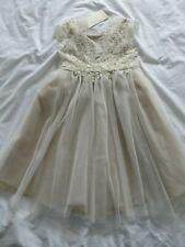 BNWT Girls Monsoon Gold Estella Lace Occasion Bridesmaid Dress 2-3 yrs 92-98cm