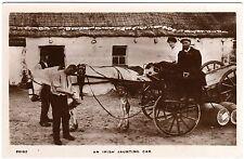 R.P.POSTCARD GALLAGHER-BLACKSMITH-MAN/ WOMAN ON IRISH JAUNTING CAR-SIGNAL SERIES