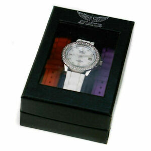 2X LADIES AVIATOR WATCH WITH 5 CHANGEABLE STRAPS MAT REQUIRE BATTERIE'S