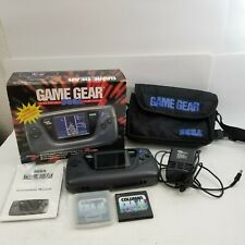Sega Game Gear Handheld Console System in Box w/ Manual, Power Cable, Etc++