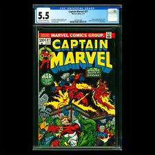 Captain Marvel #27 🔥 1st full appearance & cover STARFOX (Eros) 1973 🔥 CGC 5.5