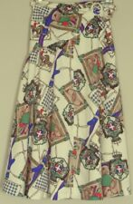 RICH REFINED horse print SKIRT regal crest & show attire print 26W ~ Women sz XS