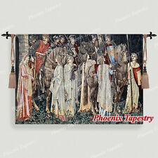 William Morris Holy Grail Tapestry - The Arming and Departure of the Knights, US