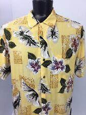 Iolani Hawaiian Aloha Shirt Mens XL Floral Flowers Rayon Made In Hawaii      B1b