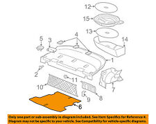 GM OEM Interior-Rear-Trunk Mat 25796183