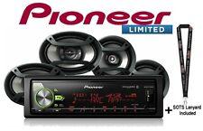 """Pioneer MVH-S501BS Digital Media Receiver Bluetooth 6x9"""" & 6.5"""" Car Speakers"""