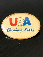 Vintage Collectible USA Shooting Stars Metal Colorful Pinback Lapel Pin Hat Pin