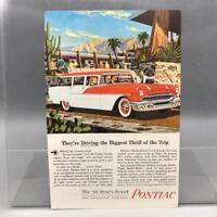 Vintage Revista Anuncio Estampado Diseño Anuncio Pontiac Automobiles 1956 Strato