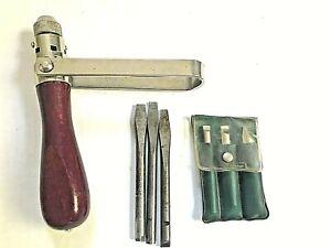 Vtg WELTRECORD Ratcheting Screwdriver 6 Bit Case German W Germany Tool Carpenter