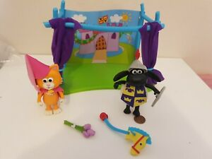 Timmy Time Showtime Playset Knight & Princess Mittens Figure Toy Set,Articulated