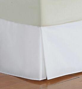 White Solid Split Corner Bed Skirt Choose Drop Length All US Size 1000 TC
