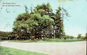 The Hairpin Curve, Lowell Auto Race Course, Lowell, MA - Vintage Postcard
