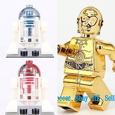 3pcs SET Star Wars C-3PO R2-D2 Custom Lego Mini Figures Cp3o R2D2