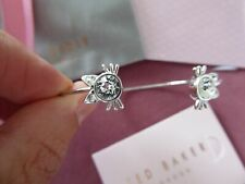 Ted Baker - Sadria Crystal Kitten Cat Cuff SILVER CUFF/BANGLE New with box