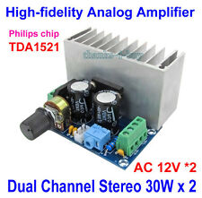 Dual 12V TDA1521 30W*2 HIFI Pure Class A Stereo Audio Power Amplifier Amp Board