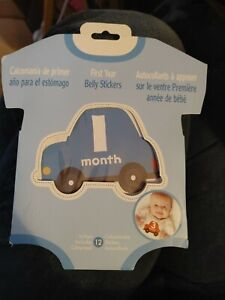 First Year Monthly Milestone Photo Sharing Baby Belly Stickers