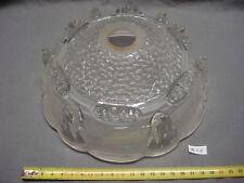 abat-jour en verre épais, trou de 28 mm style art déco 1930 (réf W28)