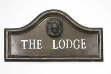Bronze Finish Chow Dog Arched House Name Plaque