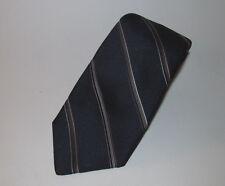 Giorgio Sant Angelo Vintage Mens Neck Tie - Blue w/ Gold and White Stripes