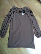 Next Brand New RRP: £65 Chiffon Long Sleeved Vintage Dress Size 10
