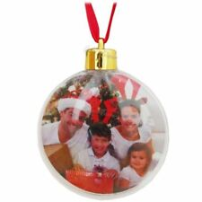 CHRISTMAS BAUBLE PERSONALISED BALL PHOTO INSERT CREATE YOUR TREE XMAS DECORATION