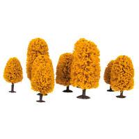 9 Model Trees Railroad Train War Game Autumn Scenery Landscape HO N Z Scale