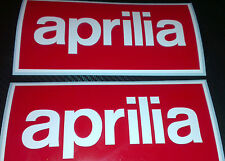 2 x Aprilia Box Logo Large Stickers Decals Motorcycle
