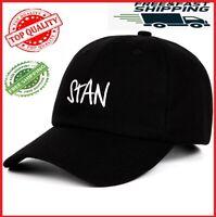 Eminem Dido STAN Baseballcap Embroidery Cotton Black White Unisex Hat Singer Cap
