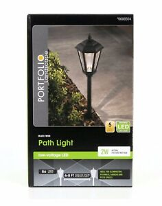 NEW Portfolio Landscape 2W Black Finish Low Voltage LED Metal Path Light 0688504