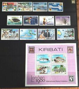 Kiribati 4 x Full Stamp Sets #3 - MNH
