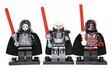 Darth Nihilus, Revan & Malgus Star Wars Custom Lego Minifigures w/ Stands 9500