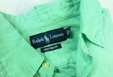 $98 New Ralph Lauren CUSTOM FIT Cotton Shirt XL Green Palmolive XL mint light ab