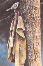 "Wranglers Campsite - Gray Jay - Robert Bateman LTD Giclee Canvas  size 16"" x 20"""