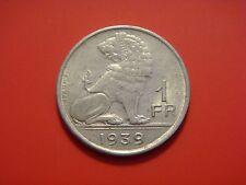 Belgium 1 Franc, 1939