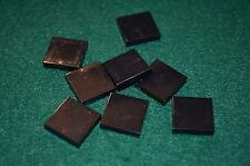 (8) BLACK 2X2 Smooth Finishing Tile Brick Bricks  ~ Lego  ~ NEW